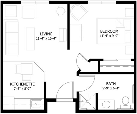 Standard One Bedroom Apartment